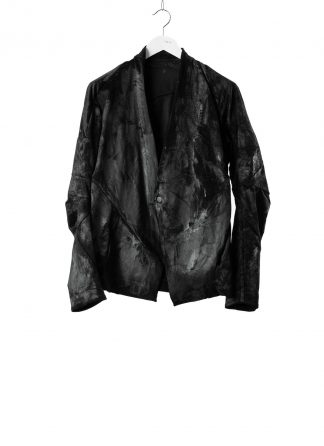 LEON EMANUEL BLANCK men distortion short blazer jacket latex coated DIS M SB 01 herren jacke baby cord black hide m 2