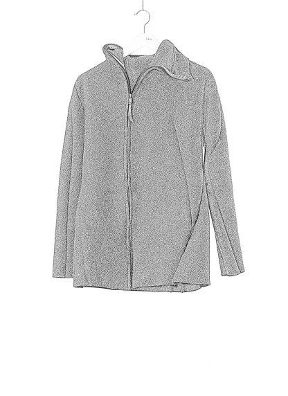 LEON EMANUEL BLANCK men distortion zipped hoody hoodie jacket panzer knit DIS M HOZ 01 herren jacke stretch wool grey hide m 1