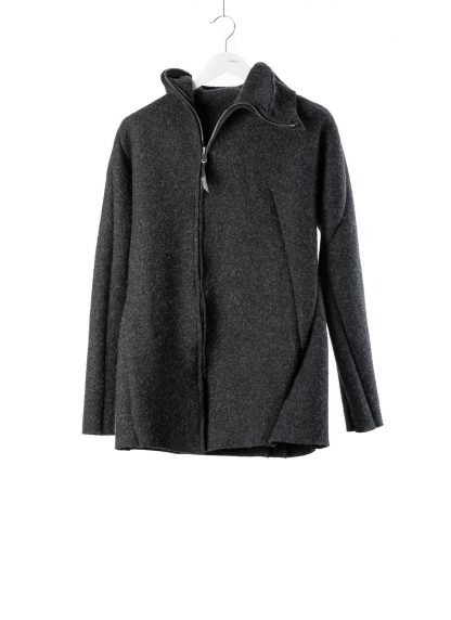 LEON EMANUEL BLANCK men distortion zipped hoody hoodie jacket panzer knit DIS M HOZ 01 herren jacke stretch wool grey hide m 2