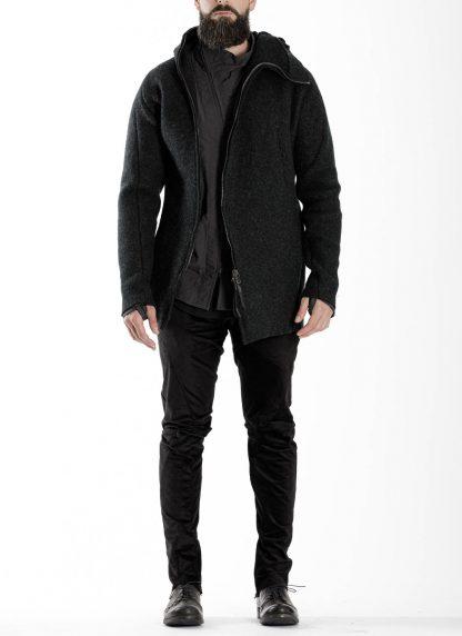 LEON EMANUEL BLANCK men distortion zipped hoody hoodie jacket panzer knit DIS M HOZ 01 herren jacke stretch wool grey hide m 3