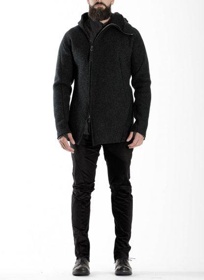 LEON EMANUEL BLANCK men distortion zipped hoody hoodie jacket panzer knit DIS M HOZ 01 herren jacke stretch wool grey hide m 4