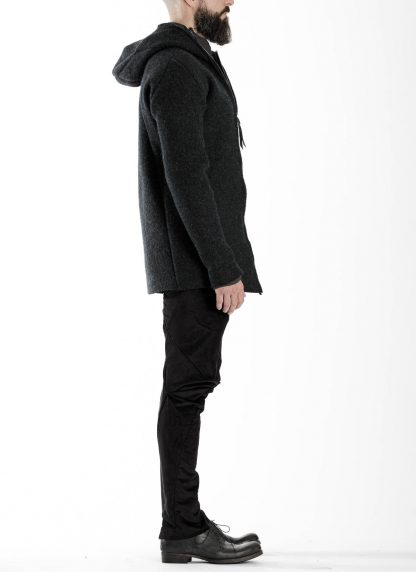 LEON EMANUEL BLANCK men distortion zipped hoody hoodie jacket panzer knit DIS M HOZ 01 herren jacke stretch wool grey hide m 5