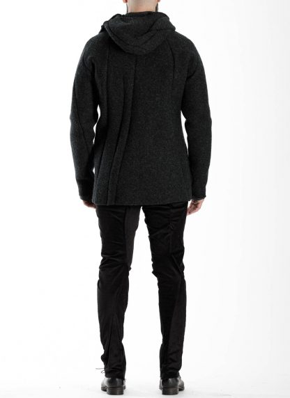 LEON EMANUEL BLANCK men distortion zipped hoody hoodie jacket panzer knit DIS M HOZ 01 herren jacke stretch wool grey hide m 6
