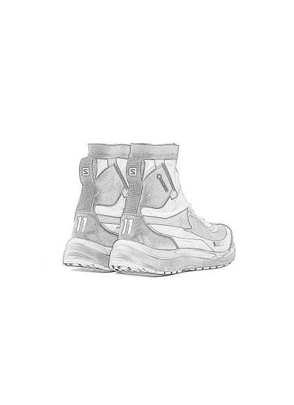 11byBBS Boris Bidjan Saberi 11xS Salomon BAMBA2 High GTX gore tex waterproof sneaker light grey hide m 1