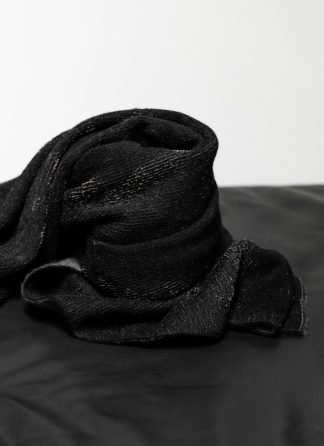 LABEL UNDER CONSTRUCTION Surfacing Loops Blanket Large Decke cashmere silk cotton black hide m 2