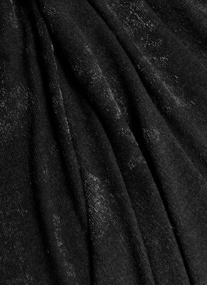 LABEL UNDER CONSTRUCTION Surfacing Loops Blanket Large Decke cashmere silk cotton black hide m 3