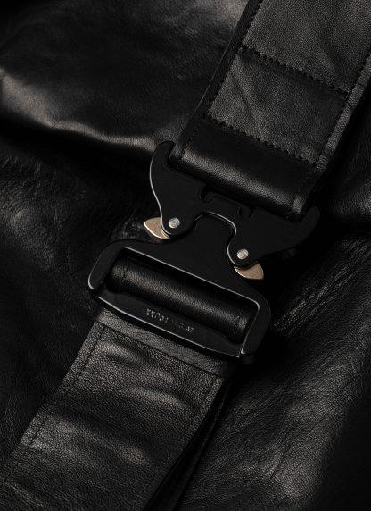 LEON EMANUEL BLANCK distortion dealer bag tasche DIS DB 01 XL horse full grain leather black hide m 6