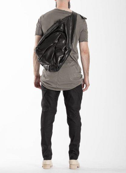 LEON EMANUEL BLANCK distortion dealer bag tasche DIS DB 01 XL horse full grain leather black hide m 7