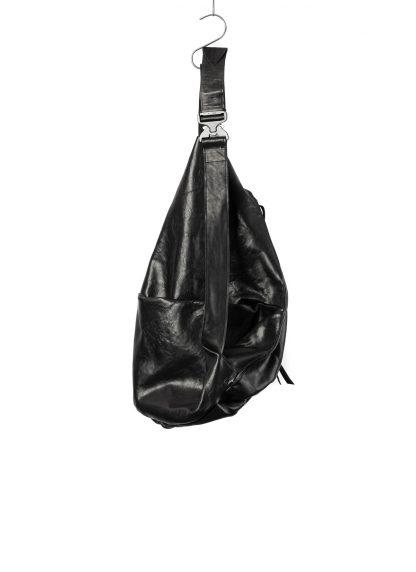 LEON EMANUEL BLANCK distortion dealer bag tasche DIS DB 01 XL horse leather black hide m 3