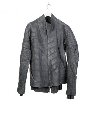 LEON EMANUEL BLANCK men distortion aviator jacket DIS M AJ 01 herren jacke wild alligator dark grey hide m 2