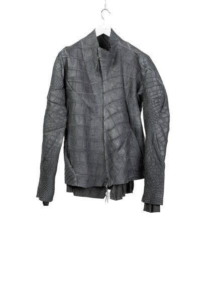 LEON EMANUEL BLANCK men distortion aviator jacket DIS M AJ 01 herren jacke wild alligator dark grey hide m 2