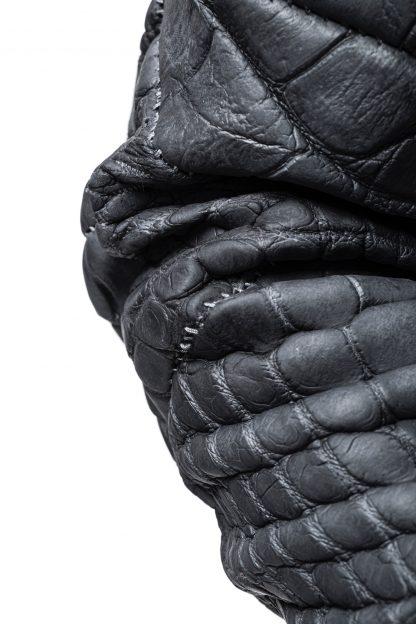 LEON EMANUEL BLANCK men distortion aviator jacket DIS M AJ 01 herren jacke wild alligator dark grey hide m 4
