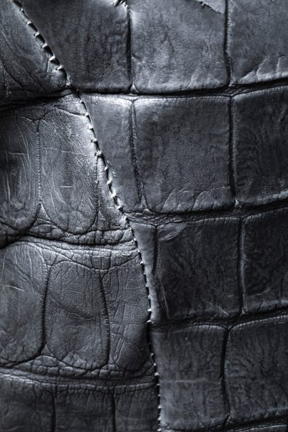 LEON EMANUEL BLANCK men distortion aviator jacket DIS M AJ 01 herren jacke wild alligator dark grey hide m 6