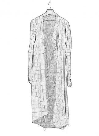 LEON EMANUEL BLANCK men distortion cardigan DIS M EDS 01 herren linen cotton coli check hide m 1