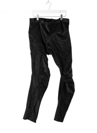 LEON EMANUEL BLANCK men distortion fitted long pants DIS M FLP 01 herren hose cotton elastan fine cord black hide m 2