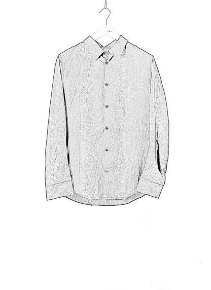 TAICHI MURAKAMI Men Inside Shirt Herren Hemd cotton black hide m 1