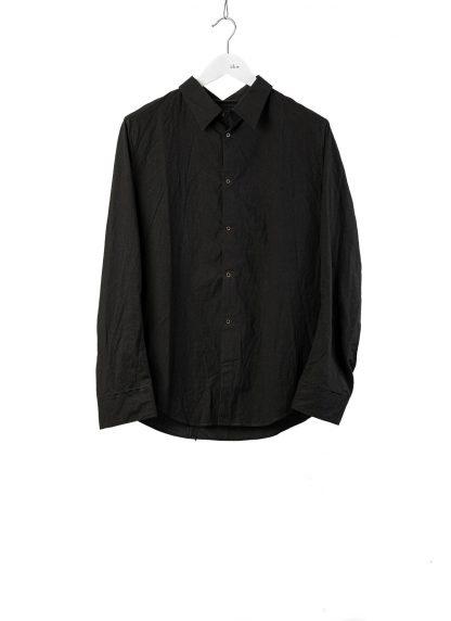 TAICHI MURAKAMI Men Inside Shirt Herren Hemd cotton black hide m 2