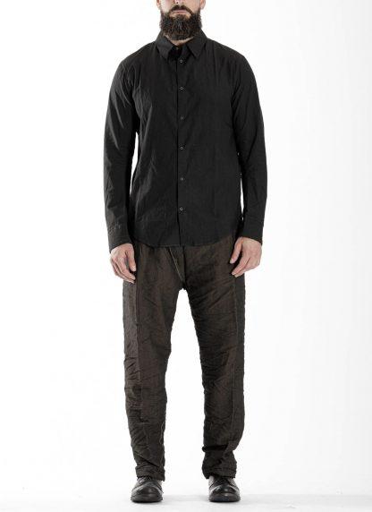 TAICHI MURAKAMI Men Inside Shirt Herren Hemd cotton black hide m 3