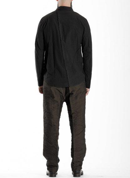TAICHI MURAKAMI Men Inside Shirt Herren Hemd cotton black hide m 5