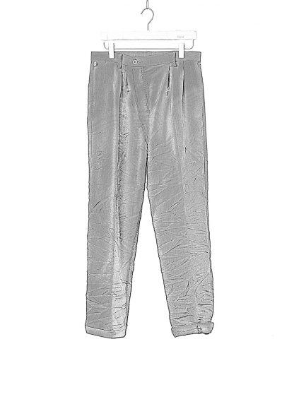 TAICHI MURAKAMI Men L p Straight Pants trousers herren hose wool printed paper olive black hide m 1