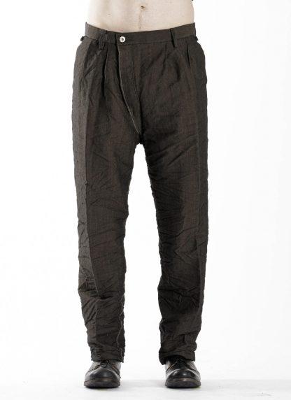 TAICHI MURAKAMI Men L p Straight Pants trousers herren hose wool printed paper olive black hide m 3