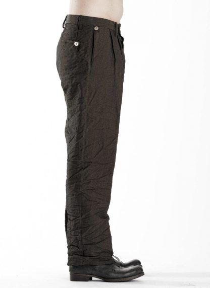 TAICHI MURAKAMI Men L p Straight Pants trousers herren hose wool printed paper olive black hide m 4