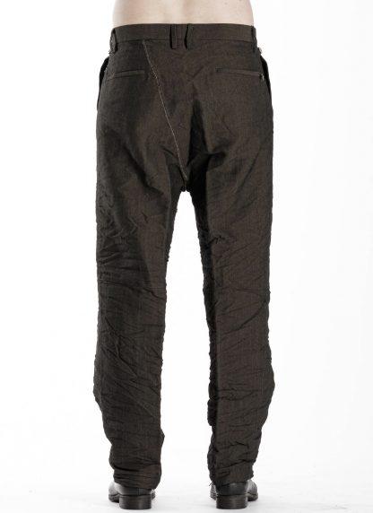 TAICHI MURAKAMI Men L p Straight Pants trousers herren hose wool printed paper olive black hide m 5