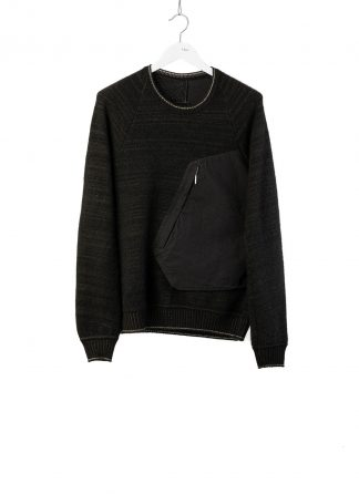 TAICHI MURAKAMI Men Pocket Sweater herren pulli knitted cashmere black hide m 2