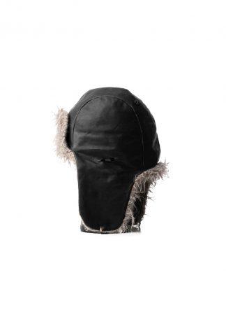 TAICHI MURAKAMI pilot cap chapka muetze horse leather black cashmere hide m 2