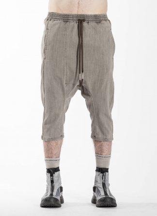 BORIS BIDJAN SABERI BBS Pants Herren Hose P28.1 F1406K Cotton Pu acid grey hide m 3