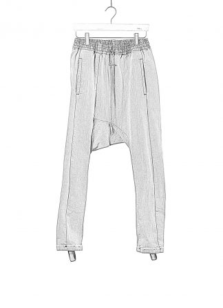 BORIS BIDJAN SABERI BBS Pants Herren Hose P28.2 F1406K Cotton Pu acid grey hide m 1