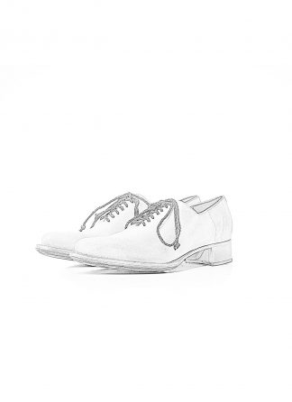 CHEREVICHKIOTVICHKI Women unlined pointy derby with tongue damen schuh 07 2020 albino white reverse cordovan hide m 1