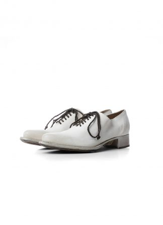 CHEREVICHKIOTVICHKI Women unlined pointy derby with tongue damen schuh 07 2020 albino white reverse cordovan hide m 2