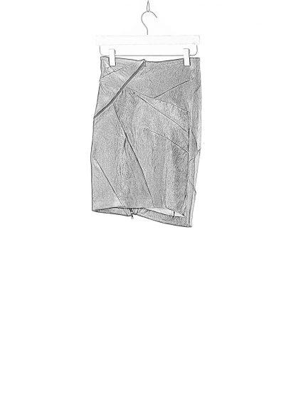 Leon Emanuel Blanck LEB women distortion pencil skirt DIS W PS 01 damen rock stretch leather deep purple hide m 1