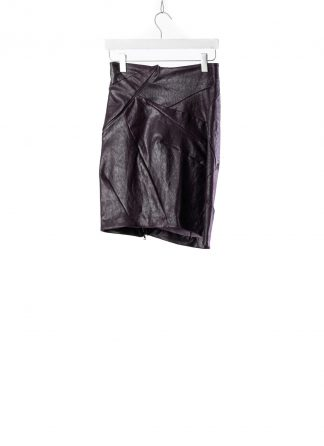 Leon Emanuel Blanck LEB women distortion pencil skirt DIS W PS 01 damen rock stretch leather deep purple hide m 2