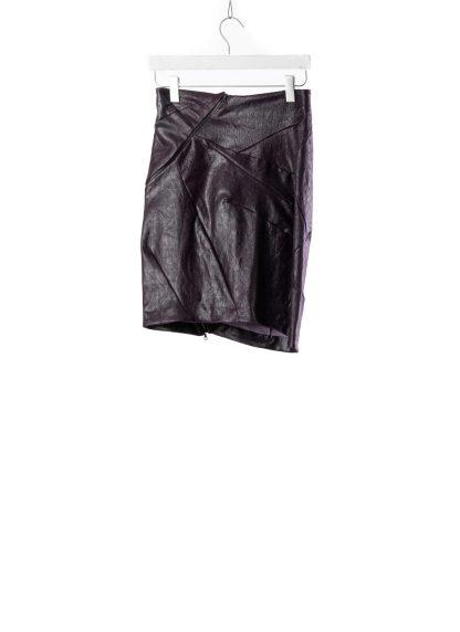 Leon Emanuel Blanck LEB women distortion pencil skirt DIS W PS 01 damen rock stretch leather deep purple hide m 2