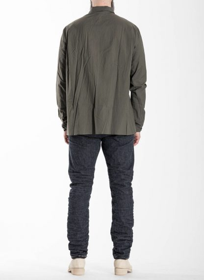 M.A Macross Maurizio Amadei Men Medium Fit Shirt H223 CKL Herren Hemd cotton cashmere black hide m 5
