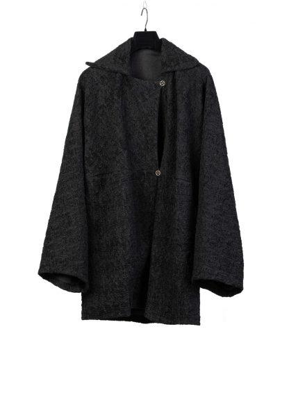 MA Macross Maurizio Amadei women Oversized Coat Jacket CW520 PPW Damen Jacke Mantel acrylic polyamide wool polyester black hide m 2