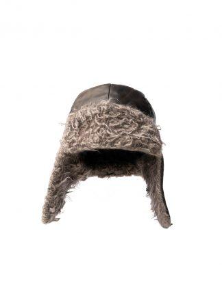 TAICHI MURAKAMI pilot cap chapka muetze kangaroo leather black cashmere hide m 2