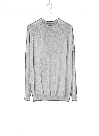 BORIS BIDJAN SABERI BBS Men KN LS3 FCG30001 Round Neck Sweater Herren Pullover Pulli cashmere black hide m 1