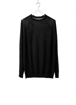 BORIS BIDJAN SABERI BBS Men KN LS3 FCG30001 Round Neck Sweater Herren Pullover Pulli cashmere black hide m 2