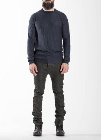 BORIS BIDJAN SABERI BBS Men KN LS3 FCG30001 Round Neck Sweater Herren Pullover Pulli cashmere dark blue hide m 3