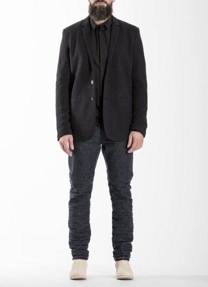 LABEL UNDER CONSTRUCTION Men 36FMJC103 WS105B FL 369 Slim Fit Formal Blazer Jacket Herren Jacke Anzug angora wool silk black hide m 3