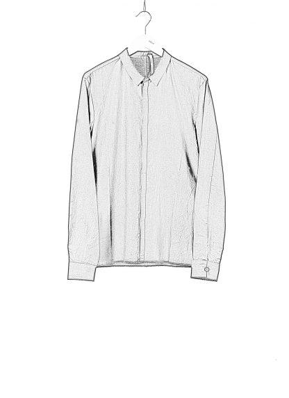 LABEL UNDER CONSTRUCTION Men 36FMSH40 CO217 UN 369 invisible buttonholes shirt herren hemd cotton black hide m 1