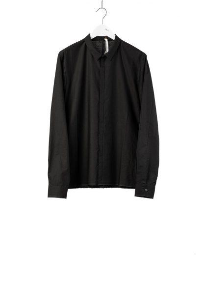 LABEL UNDER CONSTRUCTION Men 36FMSH40 CO217 UN 369 invisible buttonholes shirt herren hemd cotton black hide m 2