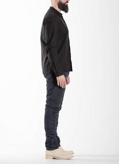 LABEL UNDER CONSTRUCTION Men 36FMSH40 CO217 UN 369 invisible buttonholes shirt herren hemd cotton black hide m 4