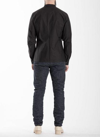 LABEL UNDER CONSTRUCTION Men 36FMSH40 CO217 UN 369 invisible buttonholes shirt herren hemd cotton black hide m 5