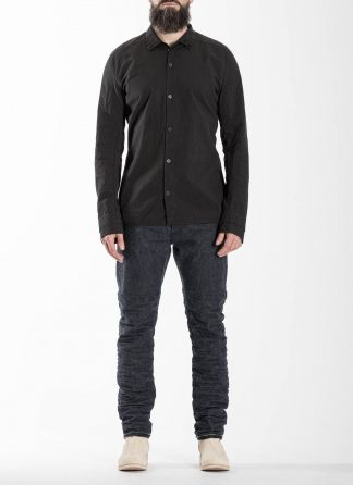 LAYER0 Layer Zero Men Button Down Shirt Herren Hemd cotton black hide m 3