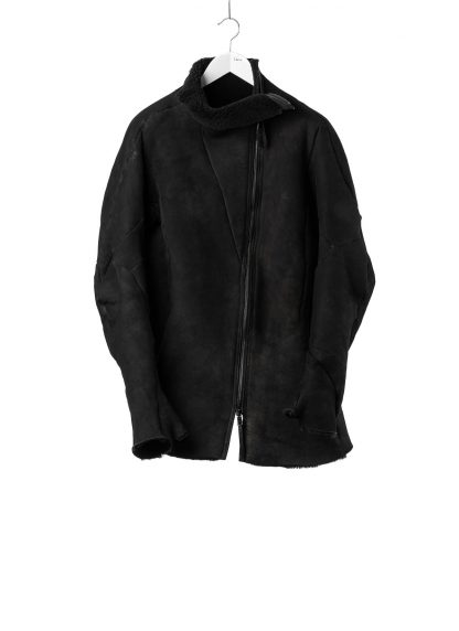 Leon Emanuel Blanck LEB Men Distortion Straight Jacket DIS M SJ 01 Herren Jacke merino shearling leather black hide m 2