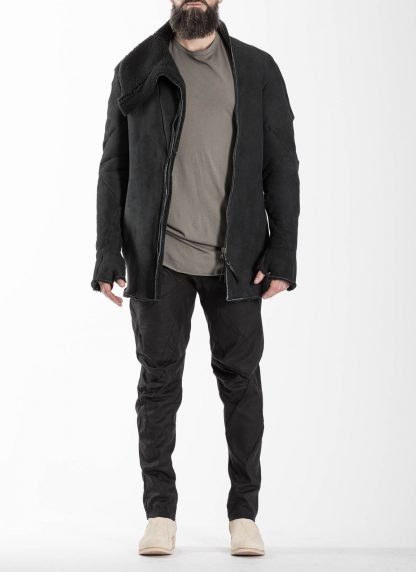 Leon Emanuel Blanck LEB Men Distortion Straight Jacket DIS M SJ 01 Herren Jacke merino shearling leather black hide m 3